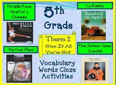 Cloze Worksheets for Houghton Mifflin Harcourt 5th Grade Theme 2