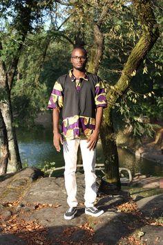 Camisola Preta/Roxa | Mãe Afroo
