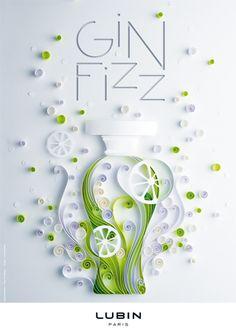 Gin Fizz   Parfum de Lubin   Annonce presse  Illustration : Yulia Brodskaya