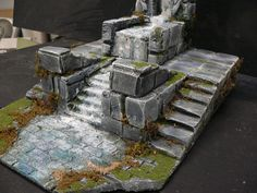 Battlefield Terrain I like how it is a complete location, with a path, steps, platform etc.