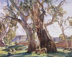 Hans Heysen: Two Red Gums Australian