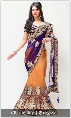 Diwali Shopping Collection Embellished-Orange-Lehengas