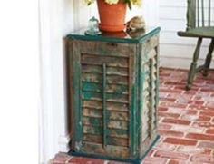 @sarah32384  I thought this was so cool. Thought you would like it too. Would be a good table for your front porch.