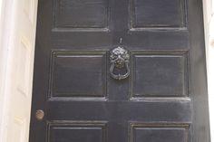 Scrooge knocker on Philly door