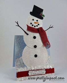 Mr. Snowman Open by Cindy Hall - Cards and Paper Crafts at Splitcoaststampers