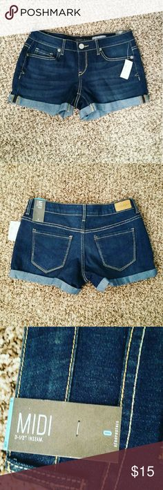 NWT Aero shorts NWT brand new style this year! True Blue denim color. Size 0 fits like a 2. 3.5 inseam midi style. Aeropostale Shorts Jean Shorts