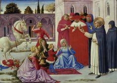Milano Pinacoteca di Brera - San Domenico resuscita Napoleone Orsini - Benozzo Gozzoli
