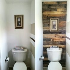Find this Pin and more on Interior Ideas by Jeff Deroche Jr. & This Small Toilet Room Got an Excellent Makeover with Pallets - http ...
