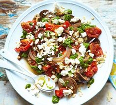 Slow cooker aubergines  This easy veggie main is full of summer veg and topped with crumbly feta. Slow cooker aubergines served with a hunk of crusty bread is guaranteed to be your new favourite go-to supper.