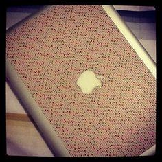 washi tape apple laptop