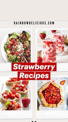 Strawberry Pop Tart, Fresh Strawberry Recipes, Strawberry Desserts, Strawberry Cheesecake, Fruit Recipes, Recipes With Fresh Strawberries, Strawberry Ideas, Dessert Recipes, Cooking Recipes