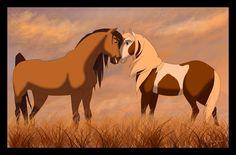 Spirit Stallion of the Cimarron Rain   Spirit and Rain by Nollaig on deviantART