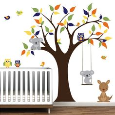 Cute animal choices for this wall decal!