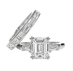 Emerald cut engagement rings are a little different than most other rings in both size and transparency. The emerald cut gives the stone a large central face, and four side faces that give the gemstone a gorgeous shine that allows