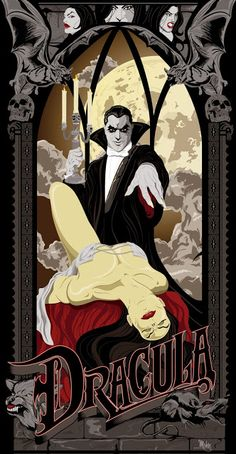 Happy Birthday Bela Lugosi (1882-1956) #Dracula Art by Mike Mahle