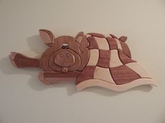 Pig in a Blanket by FROGIntarsia on Etsy