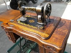 I talk about my method for restoring antique treadle sewing machines. This is a 1908 White Family Rotary treadle sewing machine.