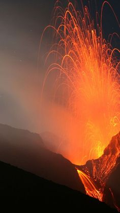 cool Volcano Stromboli, Aeolian Islands, North Of Sicily, Italy...