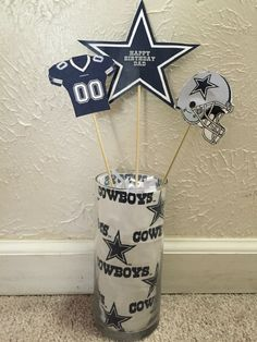 Dallas Cowboys centerpieces