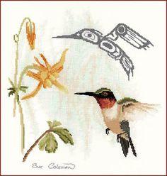 Hummingbird - Cross Stitch Pattern