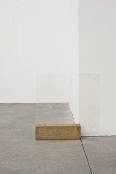 Fernanda Gomes  Untitled, 2013  Plexiglas, wood,30 x 30 x 6cm