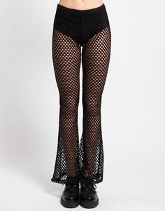 SHOW EM SOME SKIN || SHOP HERE: http://www.goodbyebread.com/collections/witch/products/mary-q-fishnet-flare-pants-black #goodbyebread #styleinspo #photoshoot #model #fishnet #trippnyc #pants #black #sheer #bottoms #goth #af #sexy #hot #summer #outfit #goals