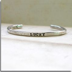 Hand Stamped Custom Crafted Sterling Cuff the by vintagefaerie