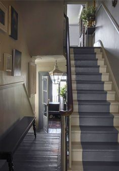 paint middle stripe down the stairs gives personality but doesn't over do it :)