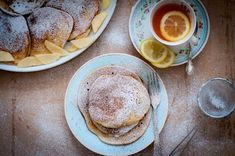 A simple recipe using seasonal British apples inspired by a Polish recipe for 'Racuchy' or apple pancakes, dusted with icing sugar and cinnamon. Apple Pancake Recipe, Polish Recipes, Polish Food, Granny's Recipe, Pancake Day, Pancakes And Waffles, Breakfast Recipes, Cooking Recipes, Crepes
