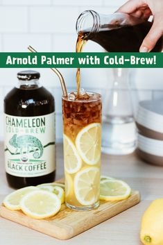 A twist on the classic Arnold Palmer with Chameleon Cold-Brew. Simply add 2 parts lemonade and 1 part Chameleon Cold-Brew Black Coffee Concentrate. Coffee Type, Coffee Pods, Black Coffee, Best Coffee, Coffee Beans, Coffee 21, Coffee Jelly, Espresso Coffee, Cuban Coffee