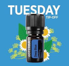 Tuesday Tip-Off! Deep Blue Soothing Blend is the solution for sore muscles and joints. Once gently rubbed into the area of discomfort, Deep Blues cool and therapeutic benefit will be felt almost immediately.