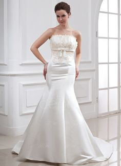 There is no doubt you will turn heads in this stunning dress! Only $178.99! Trumpet/Mermaid Scalloped Neck Chapel Train Satin Wedding Dress With Beading Appliques Sequins Bow(s) (002000079) http://www.dressdepot.com/Trumpet-Mermaid-Scalloped-Neck-Chapel-Train-Satin-Wedding-Dress-With-Beading-Appliques-Sequins-Bow-S-002000079-g79 Wedding Dress Wedding Dresses #WeddingDress #WeddingDresses