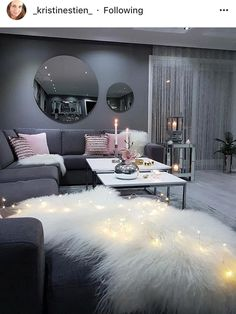 This ultimate female bedroom bedroom decor cute after h . - This ultimate feminine bedroom bedroom decor cute after home p - Cozy Living Rooms, Home Living Room, Living Room Designs, Living Room Ideas Modern Grey, Modern Living, Silver Living Room, Copper Living Room Decor, Blush And Grey Living Room, Cool Living Room Ideas