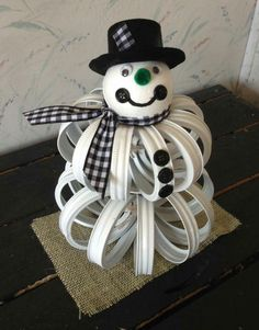 Christmas Crafts with mason jars Mason jar lid snowman Snowman Crafts, Christmas Projects, Christmas Fun, Holiday Crafts, Christmas Decorations, Christmas Ornaments, Origami Christmas, Snowman Ornaments, Rustic Christmas