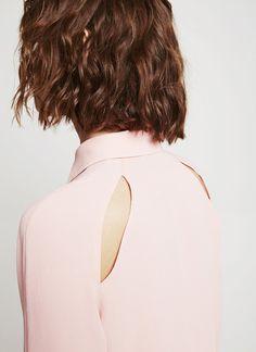 Camisa lisa con lágrima - Colección   Adolfo Dominguez shop online