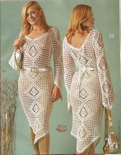 Crochet Designs Free: Look what we now have girls. Crochet dress with sleeve longa- graph. Kisses. share
