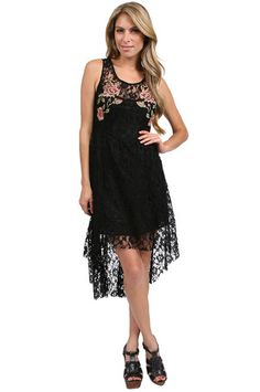 The Lace Doll Dress in Black by Free People at CoutureCandy.com