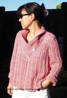 Ravelry: Anthurium Swing Jacket pattern by Jean Suzuki