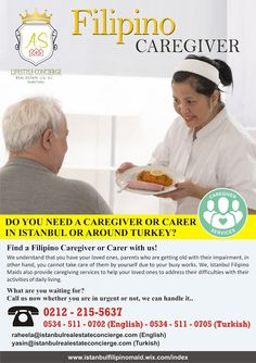 Istanbul Filipino Maids by AS Lifestyle Concierge and Real Estate Ltd. Sti.: Filipino Caregiver from Istanbul Filipino Maids