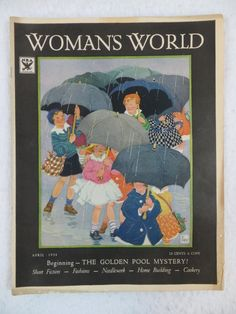 Vintage WOMAN'S WORLD Magazine April 1934 GERTRUDE KAY Cover Art NINA PURDY Condition: We strive to describe and photograph the condition of every item as accurately as possible. Photos are of the ac
