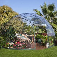 jardin d'hiver, auvent d'été, serre géodésique Garden Igloo - LAPADD - objets de lutte contre les contraintes du quotidien