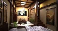 Gorgeous Japanese interior (cgtrader)
