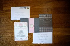 Pretty Pink and Gray Stationary #wedding #invitations #memphisweddingplanner #weddingplanner