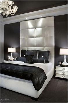 Image result for hollywood glamour bedroom black white