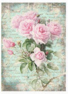 Rosas roses printable imprimible postal.                                                                                                                                                                                 Más