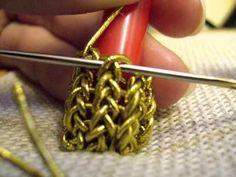 Copy of Elizabethan Embroidery - Goldwork Acorn - https://www.youtube.com/watch?v=Ja-k3tg6yfA