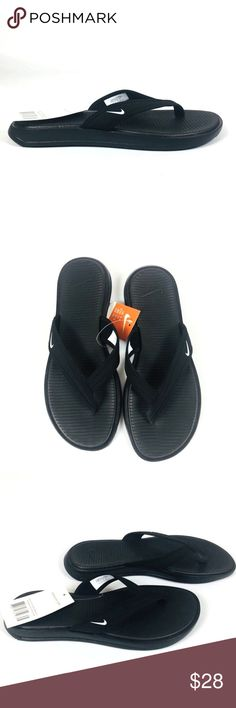 a89a5dc2984a Shop Women s Nike Black White size Various Sandals at a discounted price at  Poshmark. Description  Nike Womens Ultra Celso Thong Sandal Black White  882698 ...