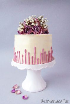 Purple Ombré Lavender Cake
