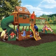 Why Spend All Your Time Designing And Building Your Kids Swing Set When  Bergmanu0027s Has Them Ready Made To Order. Big Backyard ...