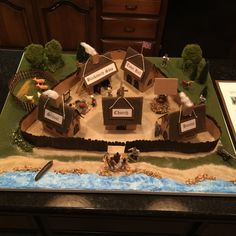 After an epic craft project fail that ended up in the trash. We tried the Jamestown colony model project again. Ethan is super excited about how it turned out.